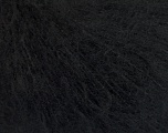 Knitted as 4 ply Fiber Content 40% Polyamide, 30% Kid Mohair, 30% Acrylic, Brand ICE, Black, Yarn Thickness 1 SuperFine  Sock, Fingering, Baby, fnt2-54274