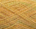 Fiber indhold 90% Bomuld, 10% Metallisk Lurex, Yellow, Brand Ice Yarns, Gold, fnt2-54284
