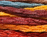 Fiberinnhold 66% Akryl, 24% Ull, 10% polyamid, Yellow, Orange, Brand Ice Yarns, Burgundy, Brown, Blue, fnt2-54335