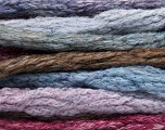 Fiber Content 66% Acrylic, 24% Wool, 10% Polyamide, Purple, Maroon, Lilac, Brand Ice Yarns, Brown, fnt2-54336