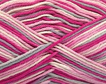 Состав пряжи 100% Хлопок, White, Pink Shades, Light Grey, Brand Ice Yarns, fnt2-54353
