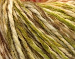 Fiber Content 70% Acrylic, 30% Wool, Brand Ice Yarns, Green, Cream, Copper, Brown, fnt2-54369
