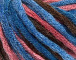 Fiber indhold 50% Uld, 50% Akryl, Salmon, Brand Ice Yarns, Brown, Blue Shades, fnt2-54383