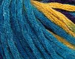 Состав пряжи 50% Шерсть, 50% Акрил, Turquoise, Purple, Brand Ice Yarns, Gold, fnt2-54386