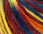 Fiber indhold 50% Uld, 50% Akryl, Yellow, Orange, Brand Ice Yarns, Burgundy, Blue, fnt2-54388
