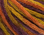 Vezelgehalte 50% Wol, 50% Acryl, Purple, Olive Green, Brand Ice Yarns, Copper, fnt2-54410
