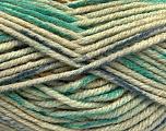 Vezelgehalte 80% Acryl, 20% Polyamide, Khaki, Brand Ice Yarns, Green, Blue, fnt2-54416