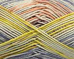 Fiber Content 50% Cotton, 50% Acrylic, Salmon, Lilac, Light Green, Brand Ice Yarns, fnt2-54484