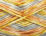 Fiber indhold 100% Exoline, White, Olive Light Green, Light Orange, Brand Ice Yarns, Grey, fnt2-54486