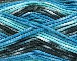 Состав пряжи 100% Exoline, White, Turquoise, Brand Ice Yarns, Blue, Black, fnt2-54488