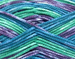 Fiber indhold 100% Exoline, White, Purple, Brand Ice Yarns, Green, Blue, fnt2-54490