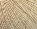Fiberinnhold 65% Akryl, 15% Alpakka, 10% Ull, 10% viskose, Brand Ice Yarns, Cream, fnt2-54540
