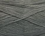 Very thin yarn. It is spinned as two threads. So you will knit as two threads. Yardage information is for only one strand. Fiber Content 100% Acrylic, Light Grey, Brand Ice Yarns, fnt2-54680