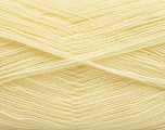 Very thin yarn. It is spinned as two threads. So you will knit as two threads. Yardage information is for only one strand. Fiber Content 100% Acrylic, Brand Ice Yarns, Dark Cream, fnt2-54681