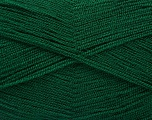 Very thin yarn. It is spinned as two threads. So you will knit as two threads. Yardage information is for only one strand. Fiber Content 100% Acrylic, Brand Ice Yarns, Dark Green, fnt2-54684