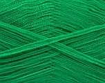 Very thin yarn. It is spinned as two threads. So you will knit as two threads. Yardage information is for only one strand. Fiber Content 100% Acrylic, Brand Ice Yarns, Emerald Green, fnt2-54685