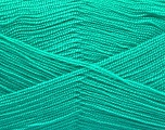 Very thin yarn. It is spinned as two threads. So you will knit as two threads. Yardage information is for only one strand. Fiber Content 100% Acrylic, Light Emerald Green, Brand Ice Yarns, fnt2-54690