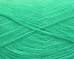 Very thin yarn. It is spinned as two threads. So you will knit as two threads. Yardage information is for only one strand. Fiber Content 100% Acrylic, Mint Green, Brand Ice Yarns, fnt2-54691