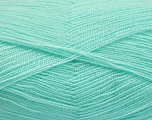 Very thin yarn. It is spinned as two threads. So you will knit as two threads. Yardage information is for only one strand. Fiber Content 100% Acrylic, Light Turquoise, Brand Ice Yarns, fnt2-54693
