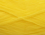 Very thin yarn. It is spinned as two threads. So you will knit as two threads. Yardage information is for only one strand. Fiber Content 100% Acrylic, Brand Ice Yarns, Canary Yellow, fnt2-54697