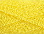 Very thin yarn. It is spinned as two threads. So you will knit as two threads. Yardage information is for only one strand. Fiber Content 100% Acrylic, Yellow, Brand Ice Yarns, fnt2-54698