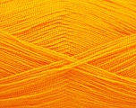 Very thin yarn. It is spinned as two threads. So you will knit as two threads. Yardage information is for only one strand. Fiber Content 100% Acrylic, Light Orange, Brand Ice Yarns, fnt2-54702