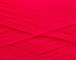Very thin yarn. It is spinned as two threads. So you will knit as two threads. Yardage information is for only one strand. Fiber Content 100% Acrylic, Neon Pink, Brand Ice Yarns, fnt2-54711