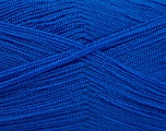 Very thin yarn. It is spinned as two threads. So you will knit as two threads. Yardage information is for only one strand. Fiber Content 100% Acrylic, Brand Ice Yarns, Blue, fnt2-54719