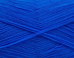 Very thin yarn. It is spinned as two threads. So you will knit as two threads. Yardage information is for only one strand. Fiber Content 100% Acrylic, Brand Ice Yarns, Blue, fnt2-54720
