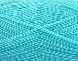 Very thin yarn. It is spinned as two threads. So you will knit as two threads. Yardage information is for only one strand. Fiber Content 100% Acrylic, Turquoise, Brand Ice Yarns, fnt2-54725