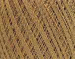 Ne: 10/3 Nm: 17/3 Fasergehalt 96% Merzerisation, 4% Metallic Lurex, Brand Ice Yarns, Gold, Camel, fnt2-54759