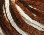 Contenido de fibra 50% Acrílico, 50% Lana, White, Brand Ice Yarns, Brown Shades, fnt2-54765