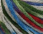 Contenido de fibra 50% Acrílico, 50% Lana, Brand Ice Yarns, Grey, Green, Burgundy, Blue, fnt2-54767