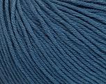 Global Organic Textile Standard (GOTS) Certified Product. CUC-TR-017 PRJ 805332/918191 Vezelgehalte 100% Biologische katoen, Indigo Blue, Brand Ice Yarns, fnt2-54796