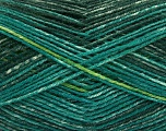 Fiber Content 75% Superwash Wool, 25% Polyamide, Brand Ice Yarns, Green Shades, fnt2-54878