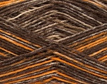 Fiber Content 75% Superwash Wool, 25% Polyamide, Brand Ice Yarns, Gold, Brown Shades, fnt2-54879