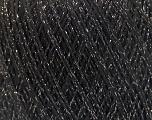 Fiberinnehåll 8% Elastan, 57% Viskos, 24% Polyamid, 11% metalliskt Lurex, Silver, Brand Ice Yarns, Black, fnt2-54885