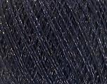 Fiberinnehåll 8% Elastan, 57% Viskos, 24% Polyamid, 11% metalliskt Lurex, Silver, Navy, Brand Ice Yarns, fnt2-54891