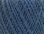 Fiberinnehåll 8% Elastan, 57% Viskos, 24% Polyamid, 11% metalliskt Lurex, Silver, Brand Ice Yarns, Blue, fnt2-54892