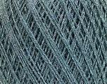 Fiberinnehåll 8% Elastan, 57% Viskos, 24% Polyamid, 11% metalliskt Lurex, Silver, Light Turquoise, Brand Ice Yarns, fnt2-54895