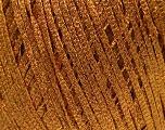 Fiber Content 68% Viscose, 32% Metallic Lurex, Brand Ice Yarns, Dark Gold, fnt2-54903
