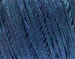 Fiber Content 68% Viscose, 32% Metallic Lurex, Brand Ice Yarns, Blue, fnt2-54905