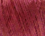 Fiber Content 68% Viscose, 32% Metallic Lurex, Pink, Brand Ice Yarns, Gold, fnt2-54910