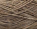 Fiber Content 83% Linen, 6% Viscose, 10% Polyester, 1% Metallic Lurex, Brand Ice Yarns, Camel, fnt2-54948