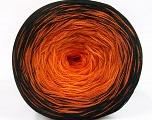 Fiber Content 50% Acrylic, 50% Cotton, Orange Shades, Brand ICE, Black, Yarn Thickness 2 Fine  Sport, Baby, fnt2-55058