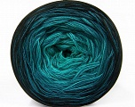Fiber Content 50% Acrylic, 50% Cotton, Turquoise Shades, Brand ICE, Black, Yarn Thickness 2 Fine  Sport, Baby, fnt2-55059