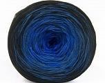 Fiber Content 50% Acrylic, 50% Cotton, Brand ICE, Blue Shades, Black, Yarn Thickness 2 Fine  Sport, Baby, fnt2-55060