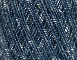 Fiber Content 70% Cotton, 30% Viscose, White, Navy, Brand Ice Yarns, fnt2-55113