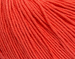Global Organic Textile Standard (GOTS) Certified Product. CUC-TR-017 PRJ 805332/918191 Vezelgehalte 100% Biologische katoen, Salmon, Brand Ice Yarns, fnt2-55220