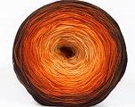 Fiber Content 50% Acrylic, 50% Cotton, Yellow, Orange, Brand ICE, Cream, Brown Shades, Yarn Thickness 2 Fine  Sport, Baby, fnt2-55245